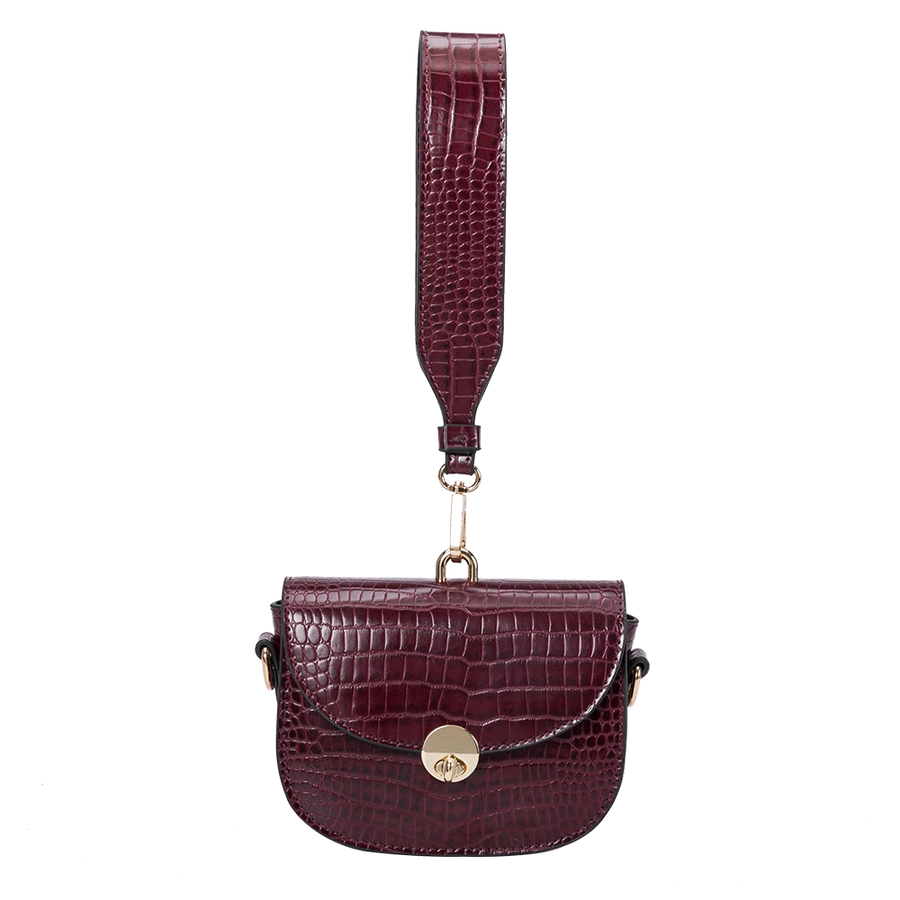 Melie Bianco Keaton Luxury Vegan Leather Belt Bag in Burgundy