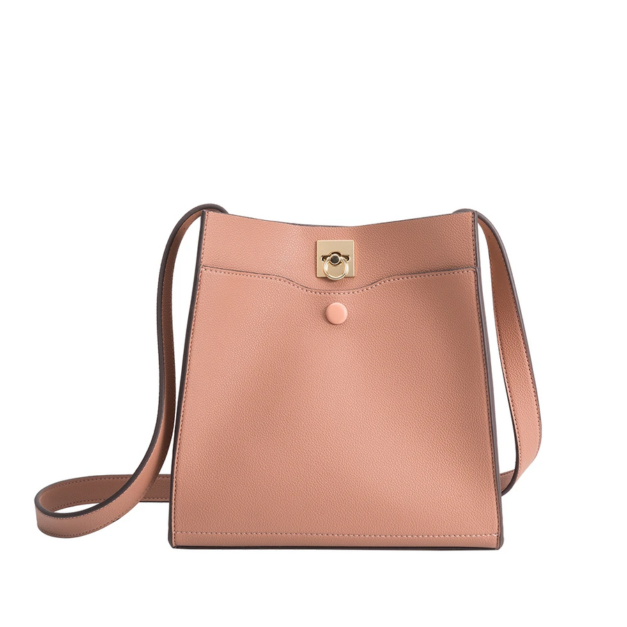 Melie Bianco Celina Luxury Vegan Leather Medium Tote Bag in Rose