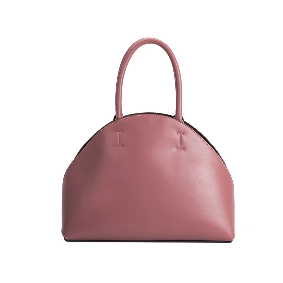 Melie Bianco Austen Luxury Vegan Leather Shoulder Bag in Rose