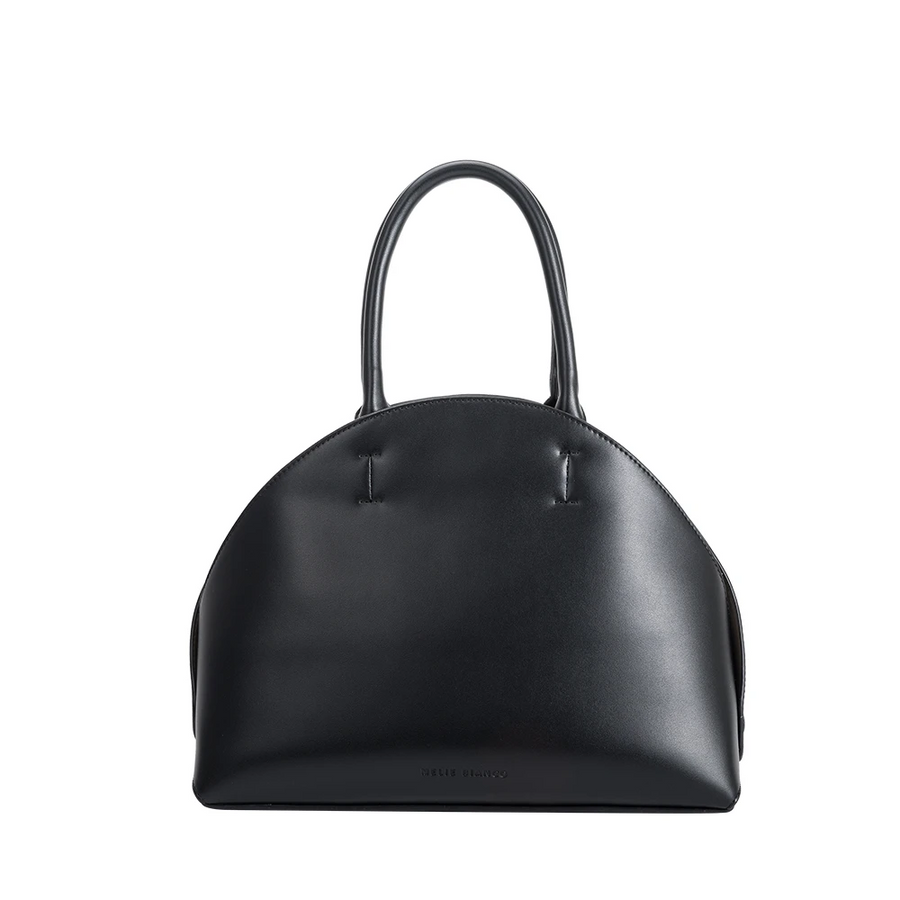 Melie Bianco Austen Luxury Vegan Leather Shoulder Bag in Black