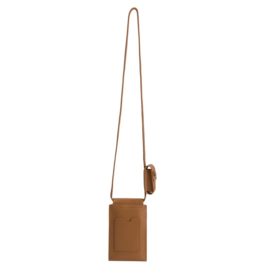 Delia Tan Crossbody Tech Bag