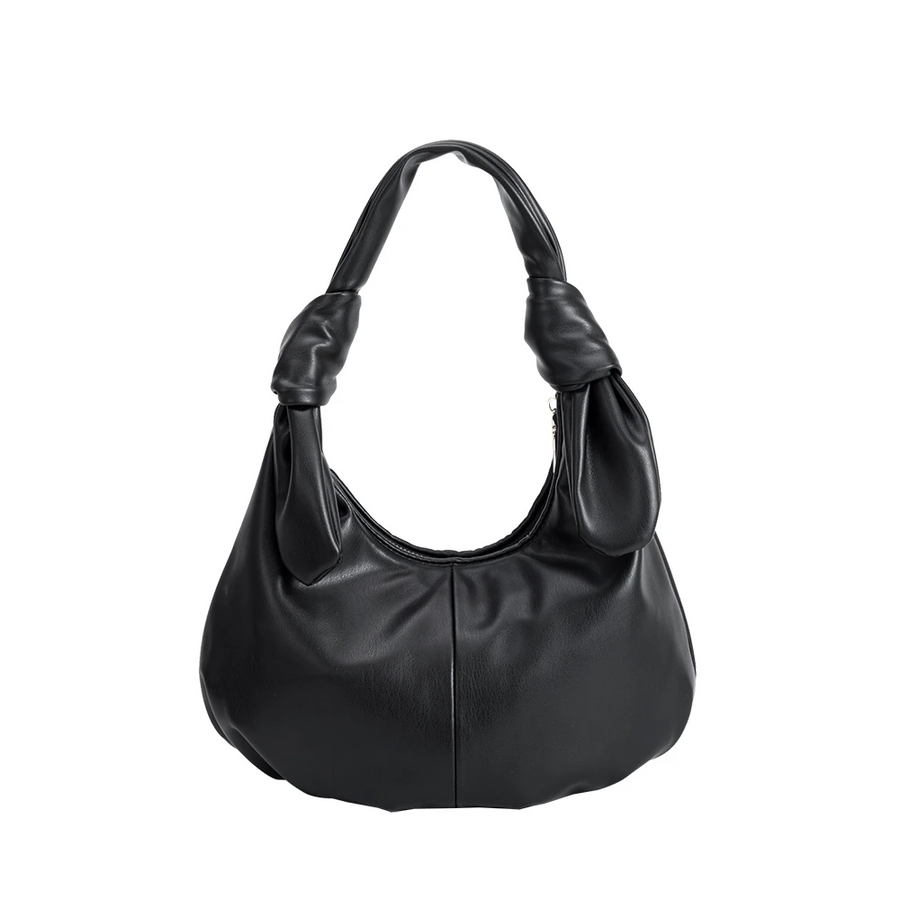 Melie Bianco Emma Vegan Hobo Shoulder Bag in Black