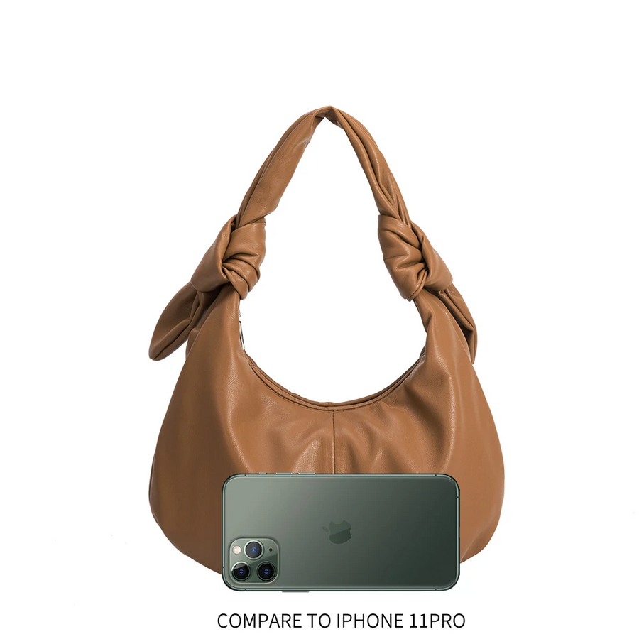 Melie Bianco Emma Vegan Hobo Shoulder Bag in Tan