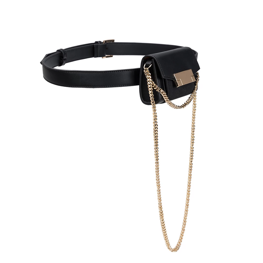 Olivia Black Convertible Belt Bag