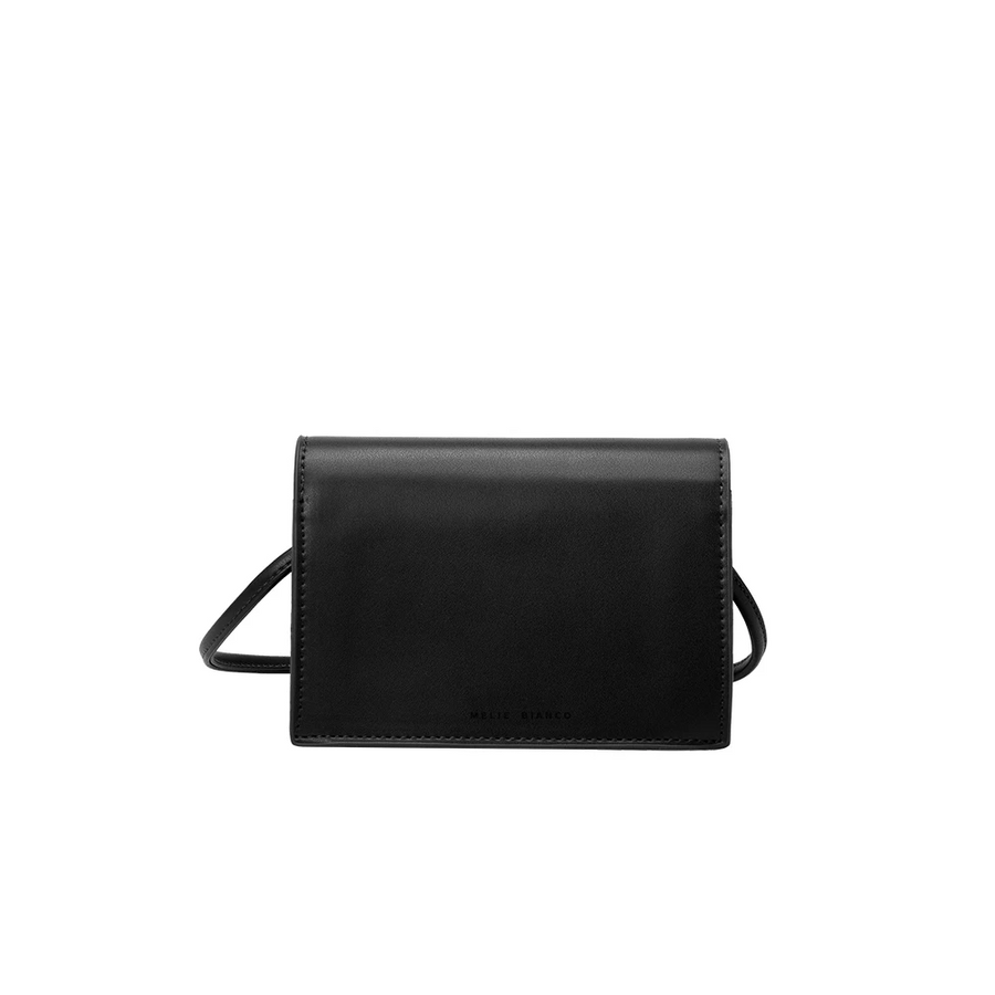 Melie Bianco Luxury Vegan Leather Gina Small Crossbody Bag in Black