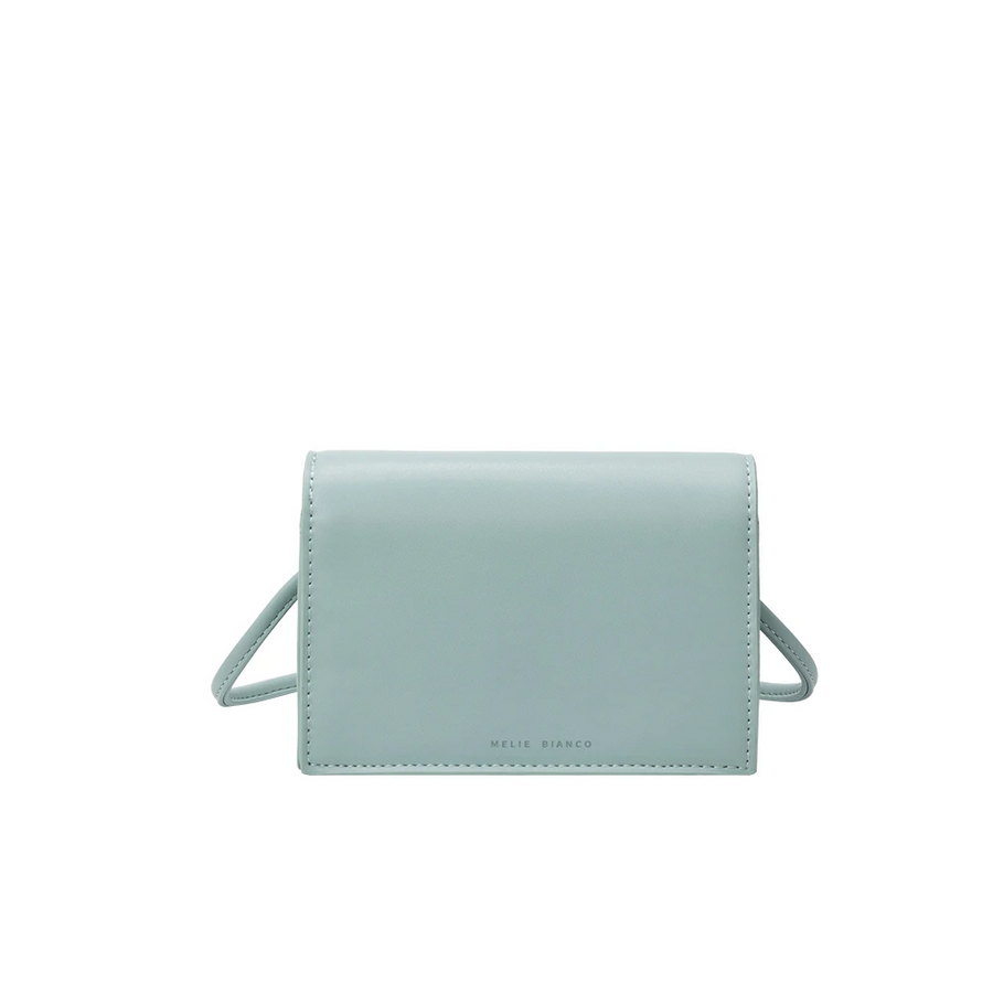 Melie Bianco Luxury Vegan Leather Gina Small Crossbody Bag in Mint