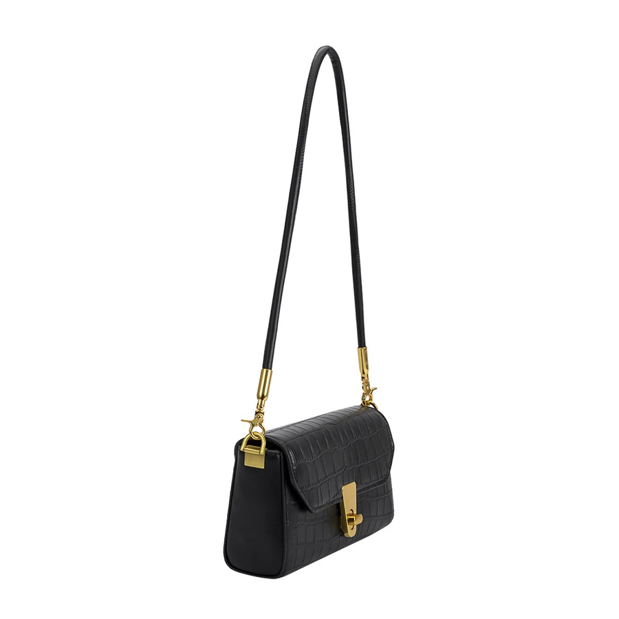Hayley Black Small Shoulder Bag