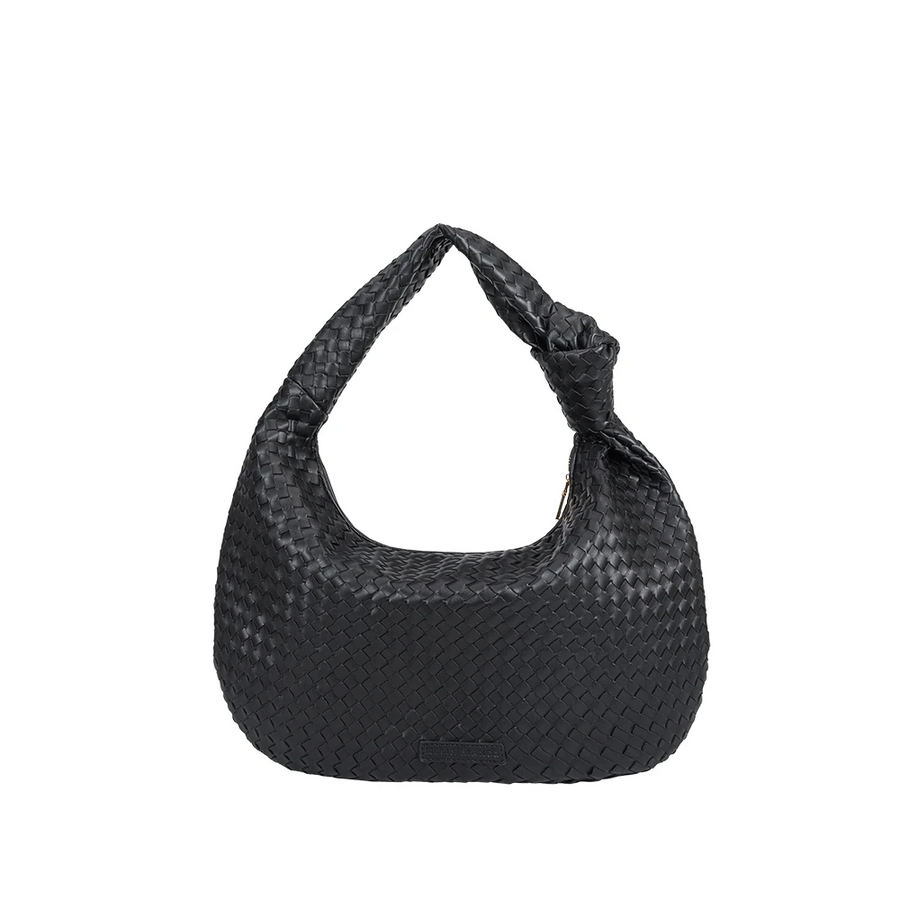 Brigitte Black Large Shoulder Bag