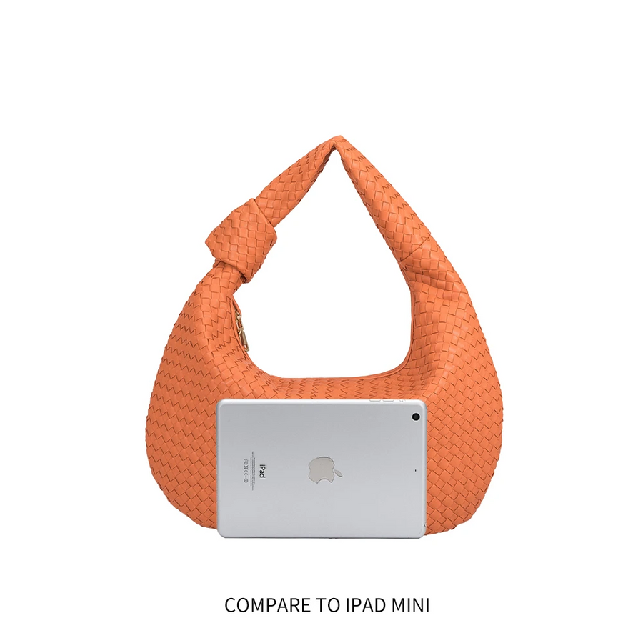 Brigitte Peach Large Shoulder Bag
