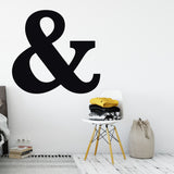 Ampersand Symbol in Black