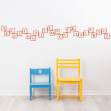 Alphabet Blocks in Sunrise Red