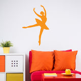 Ballerina Decal Facing Right in Orange