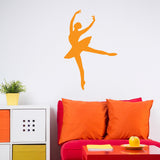 Ballerina Decal Facing Left in Orange