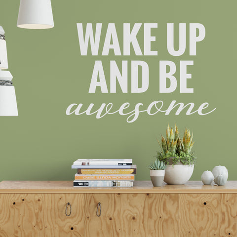 Be Awesome Decal in White