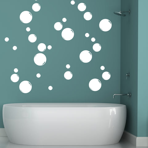 White Bubbles (Different Sizes)