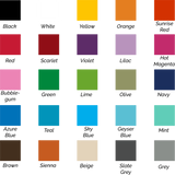 Decal color chart