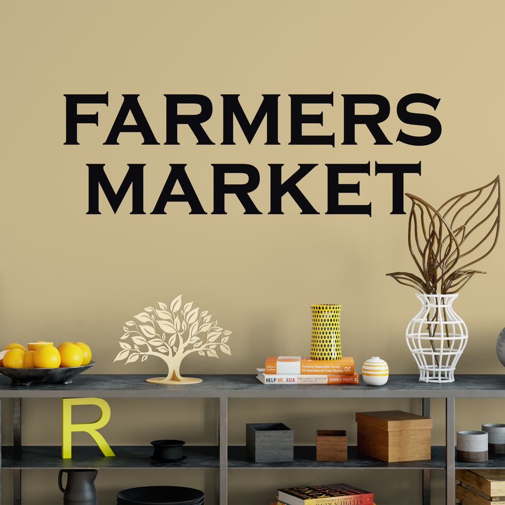 Market Quotes: Farmers Market Wall Quote Decal