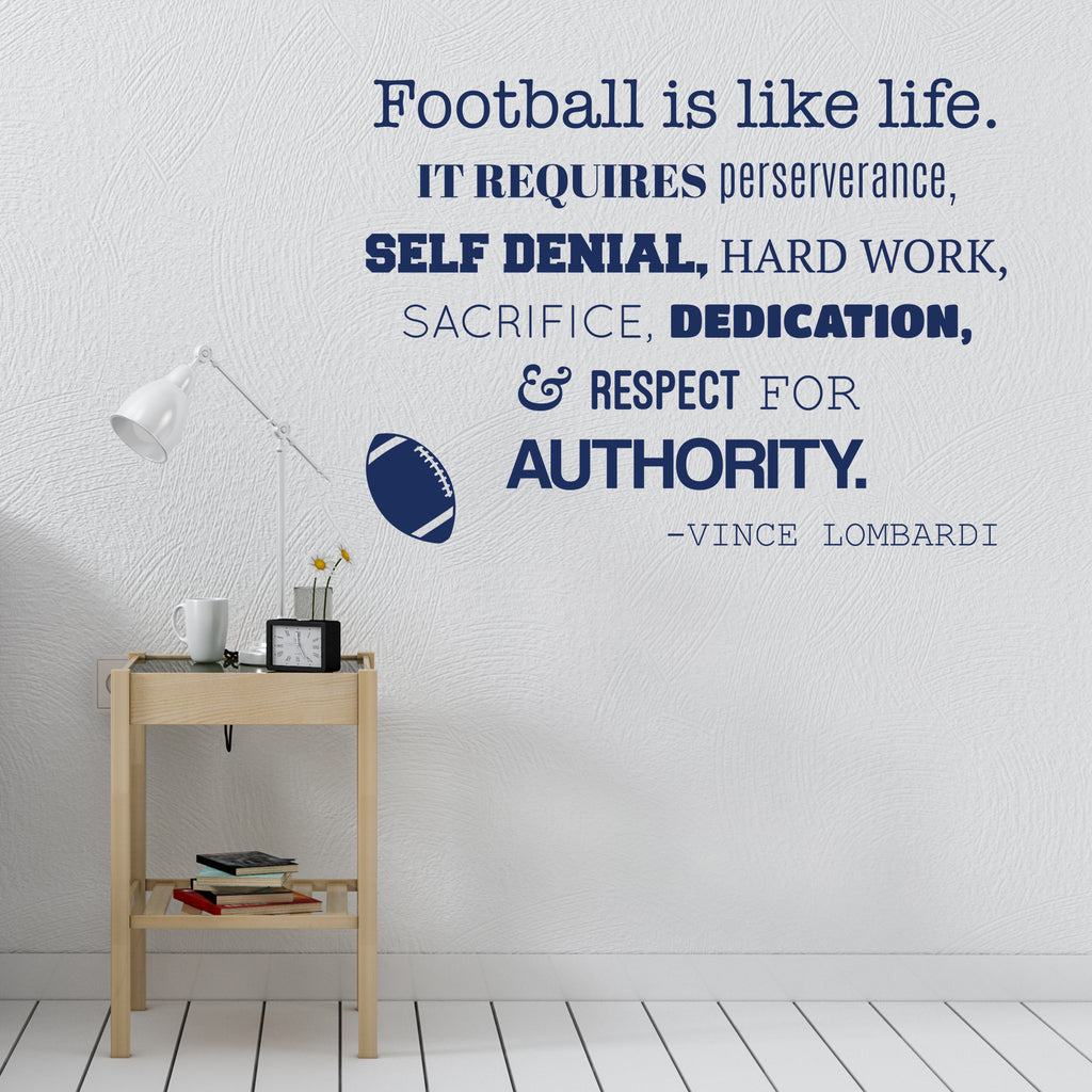 Football Is Like Life