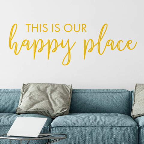 Happy Place Decal in Yellow