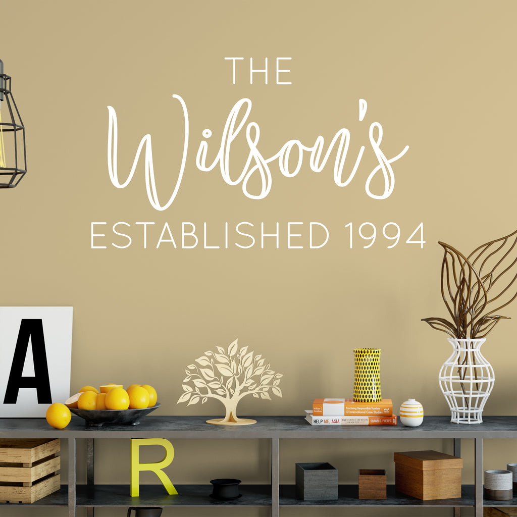 Modern Family Name Wall Decor Sketch - Wall Art Collections ...