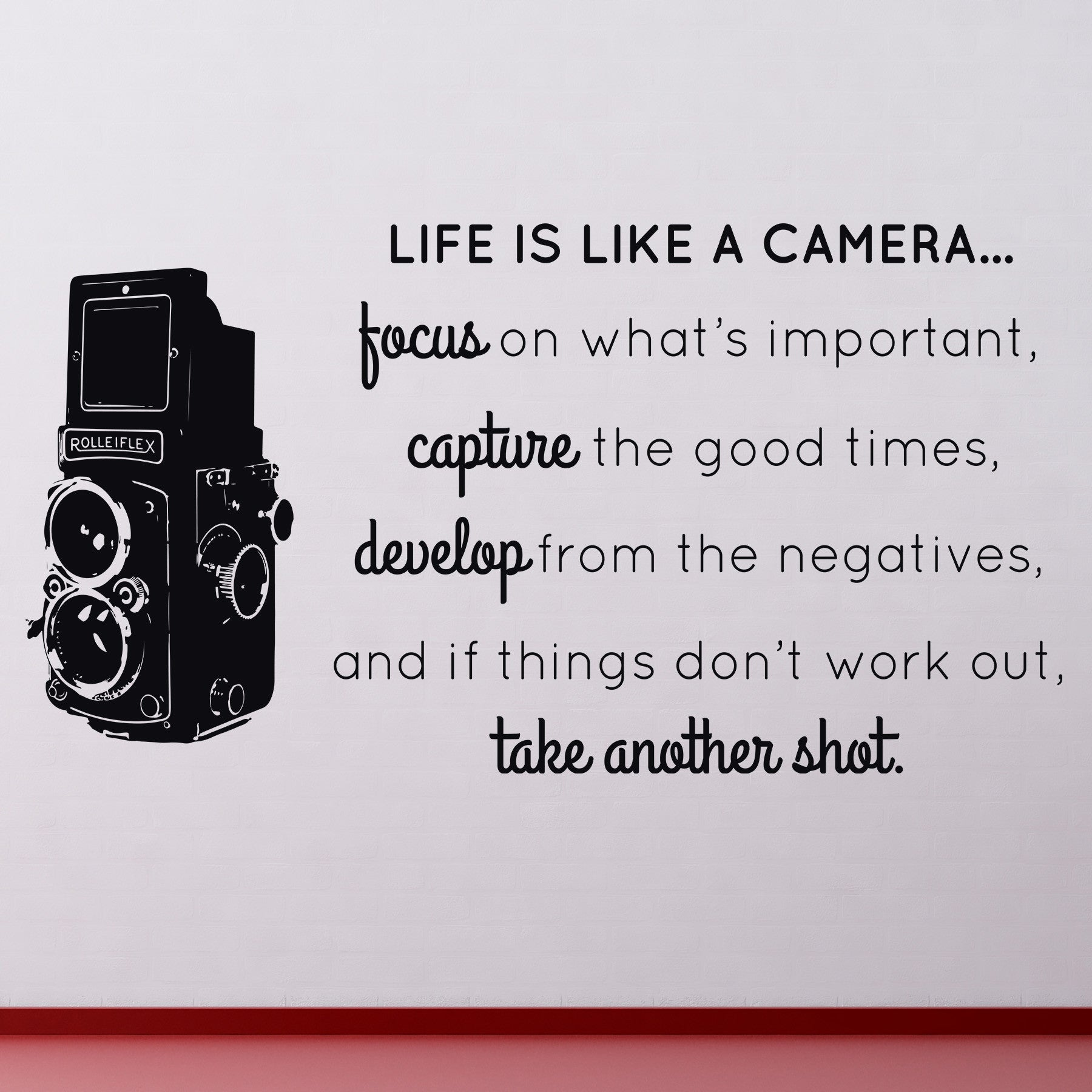 Life is like a camera wall decal dee cal frenzy wall decor life is like a camera amipublicfo Gallery