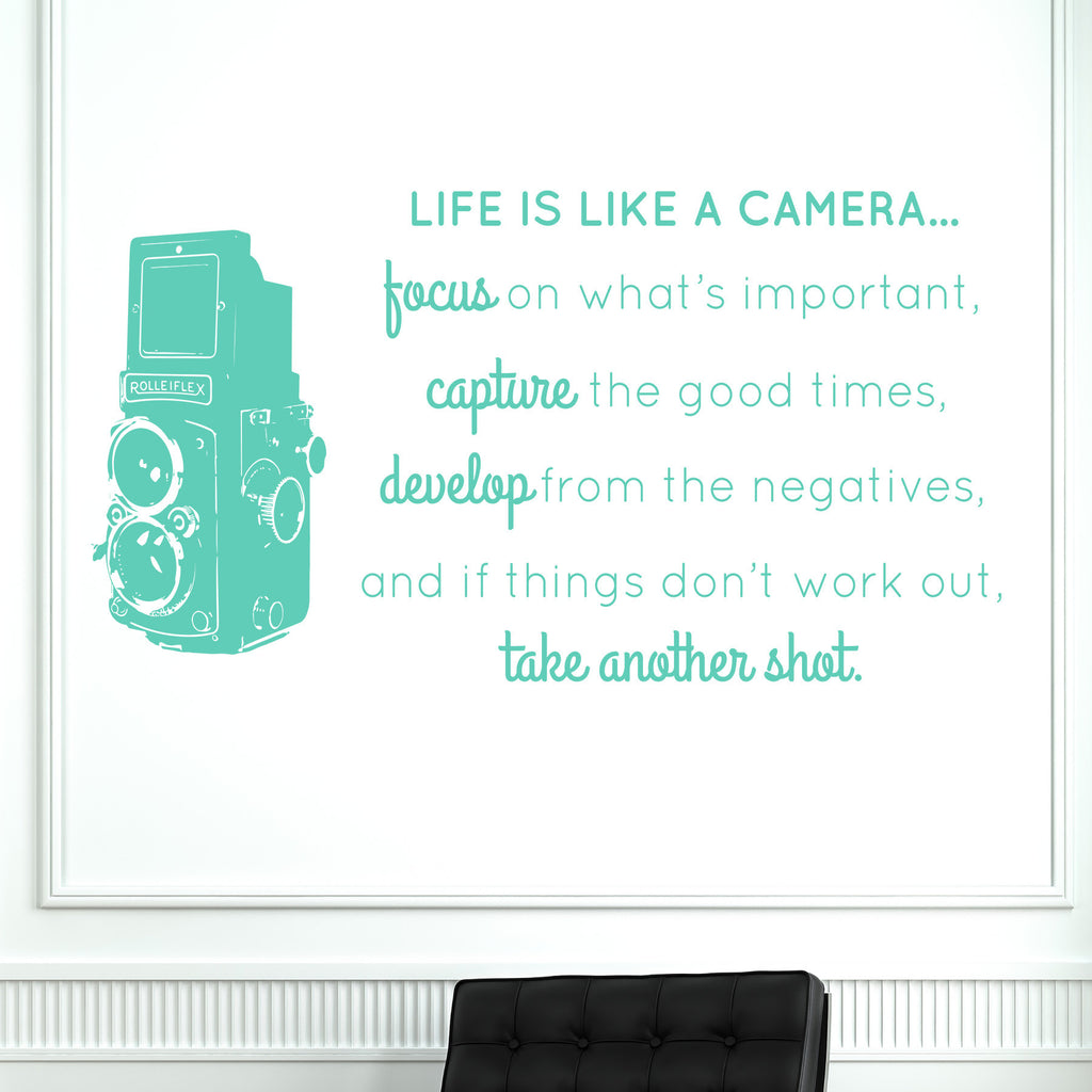 Life is like a camera wall decal dee cal frenzy wall decor life is like a camera life is like a camera amipublicfo Gallery