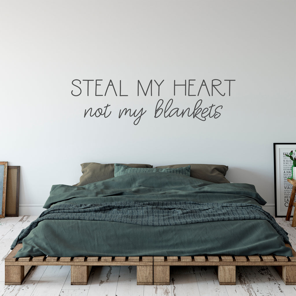 Steal My Heart Decal in Slate Grey
