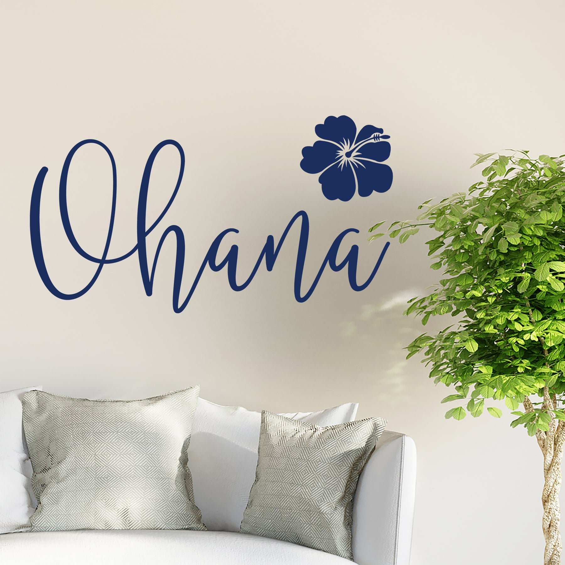 Ohana in Navy. Ohana in Navy Vinyl Decal ...  sc 1 st  Dee-cal Frenzy Wall Decor & Ohana Vinyl Decal Quoteu2013 Wall Decor u2013 Dee-cal Frenzy Wall Decor