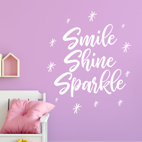 Smile Shine Sparkle in White