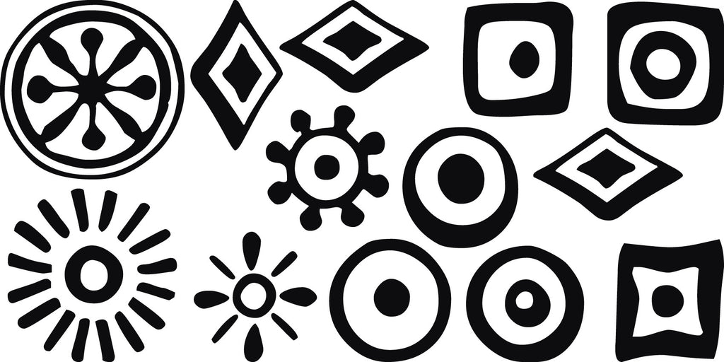 tribal symbols vinyl decal wall decor dee cal frenzy wall decor