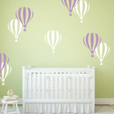 Air Balloons in Lilac and White