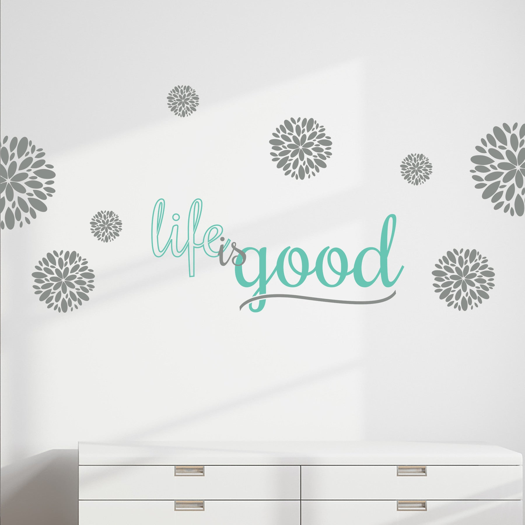 Life is good wall decal wall quote dee cal frenzy wall decor life is good ii amipublicfo Gallery