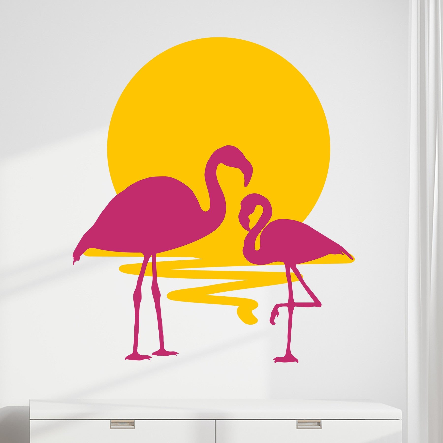 Stunning Pink Flamingo Wall Decor Pictures Inspiration - The Wall ...