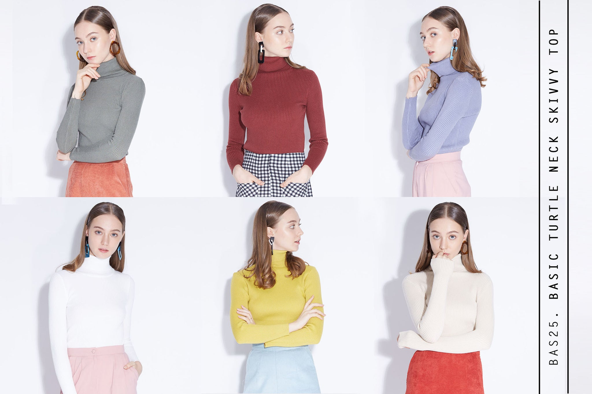 BASIC TURTLE NECK Skivvy Top
