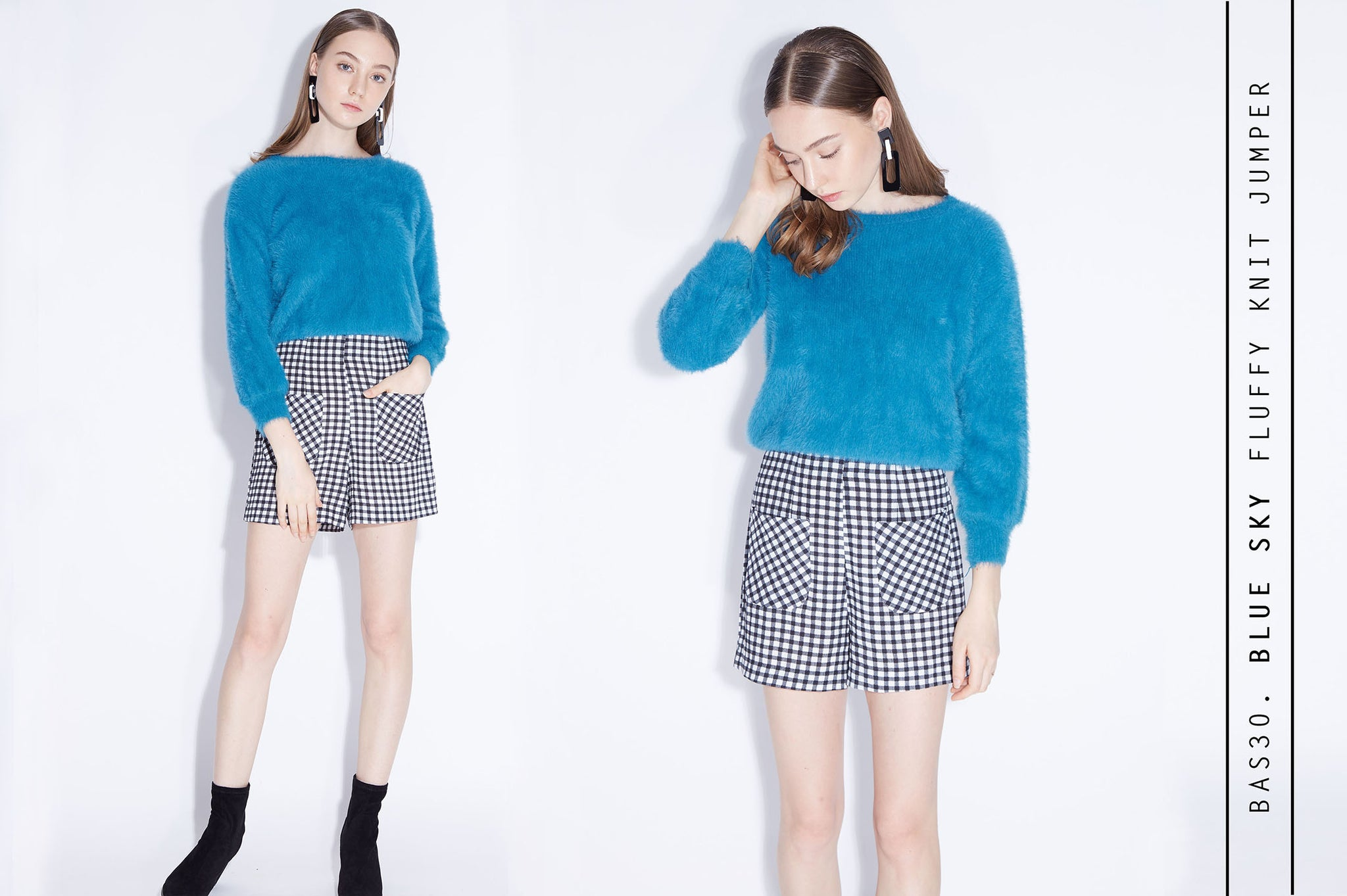 BLUE SKY Fluffy Knit Jumpser