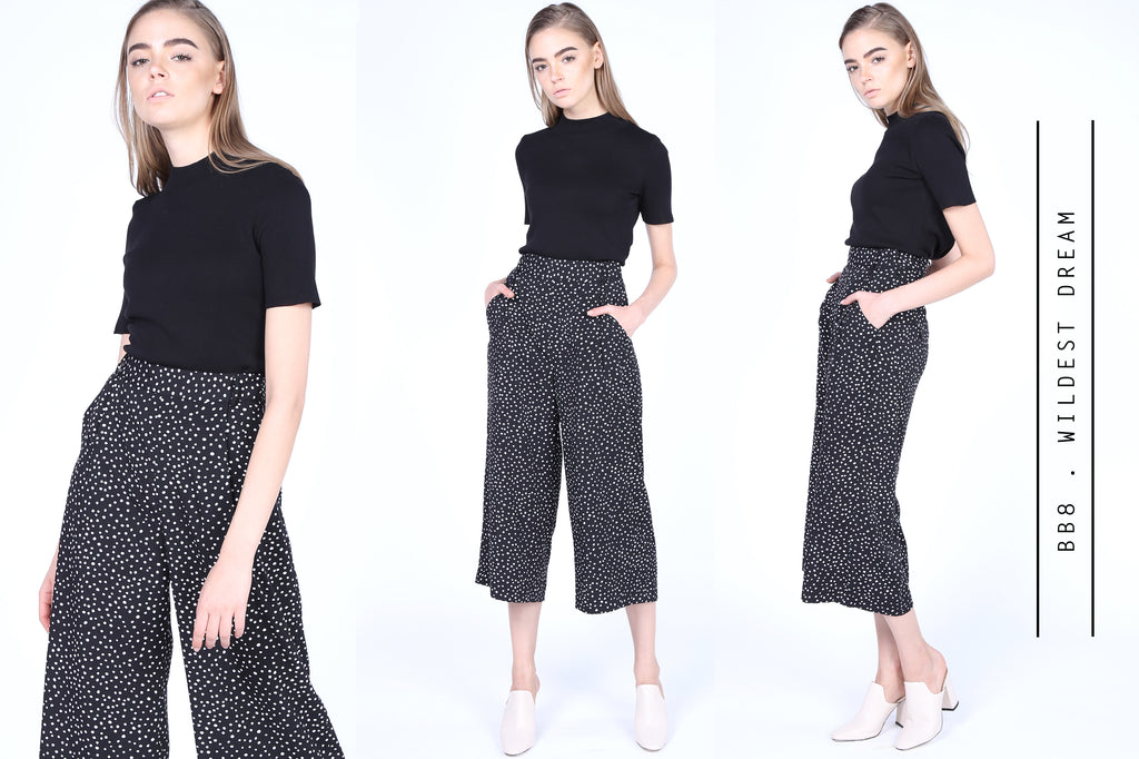 Spotty Culottes Pants