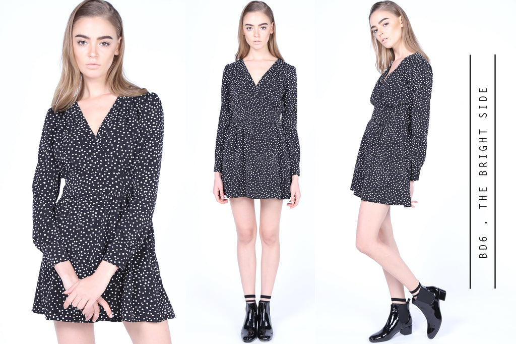 Spotty Long Sleeves Dress