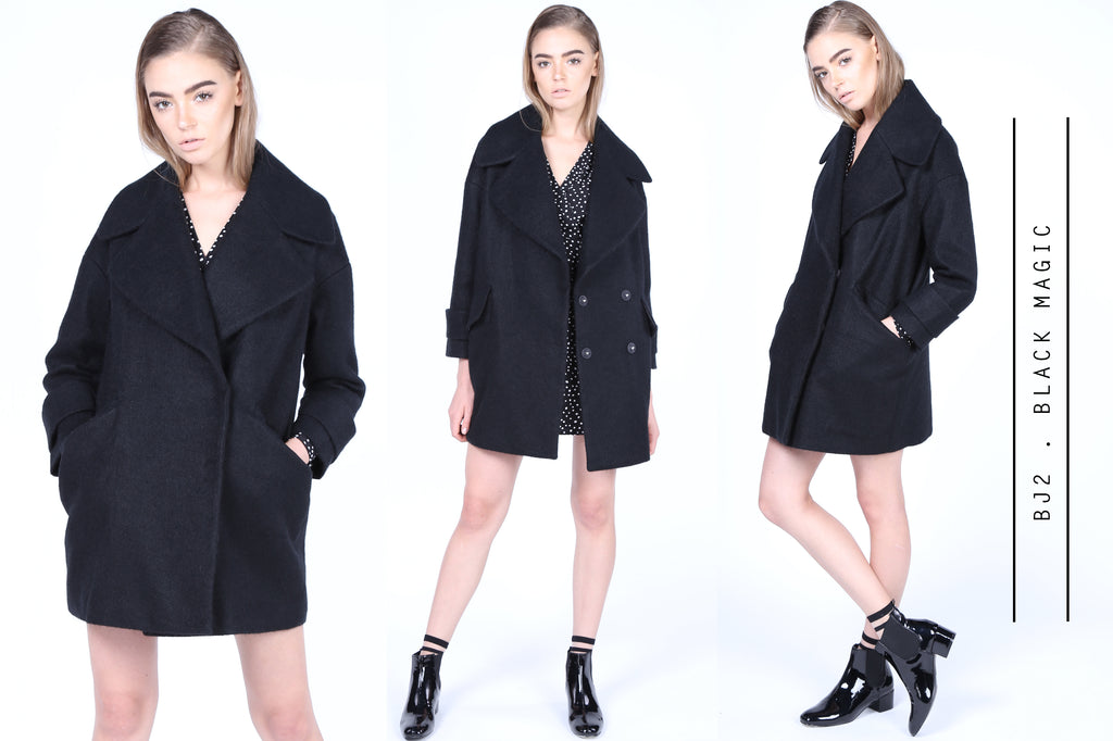 Black Mini Dress Coat