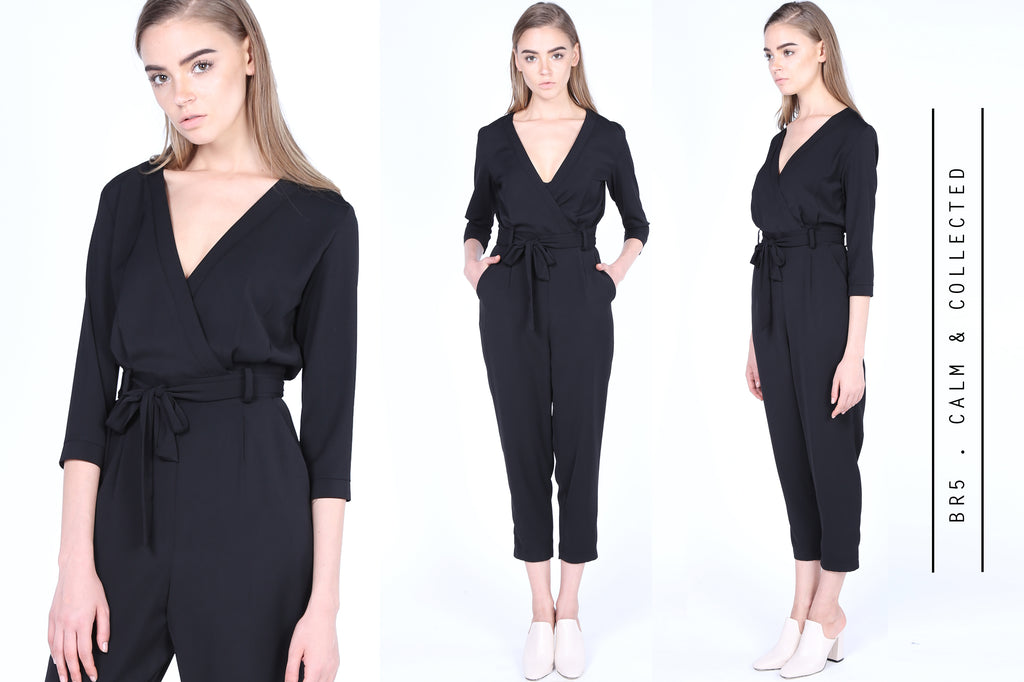 Calm & Collected Wrap Jumpsuits