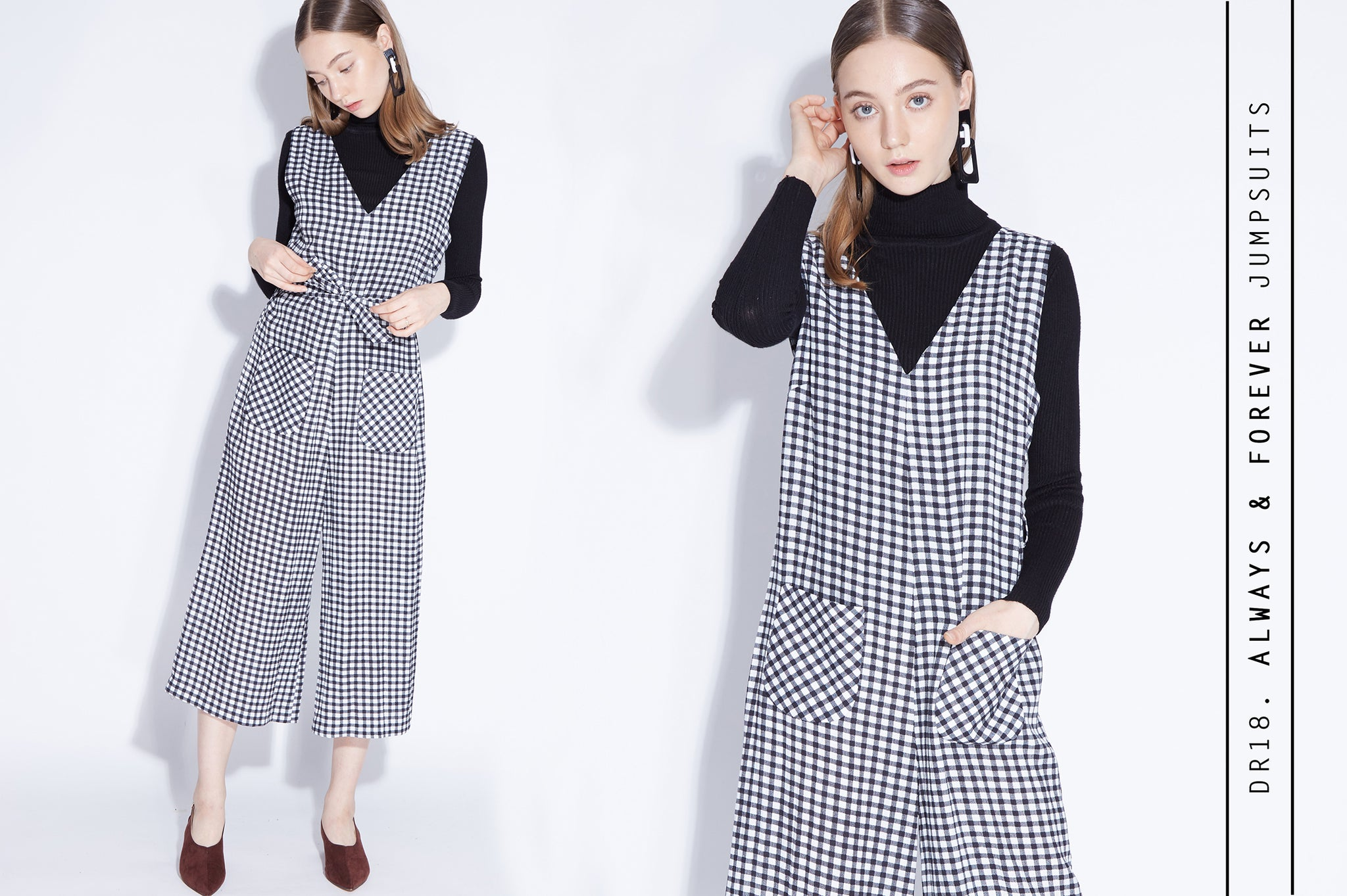 ALWAYS & FOREVER gingham jumpsuits