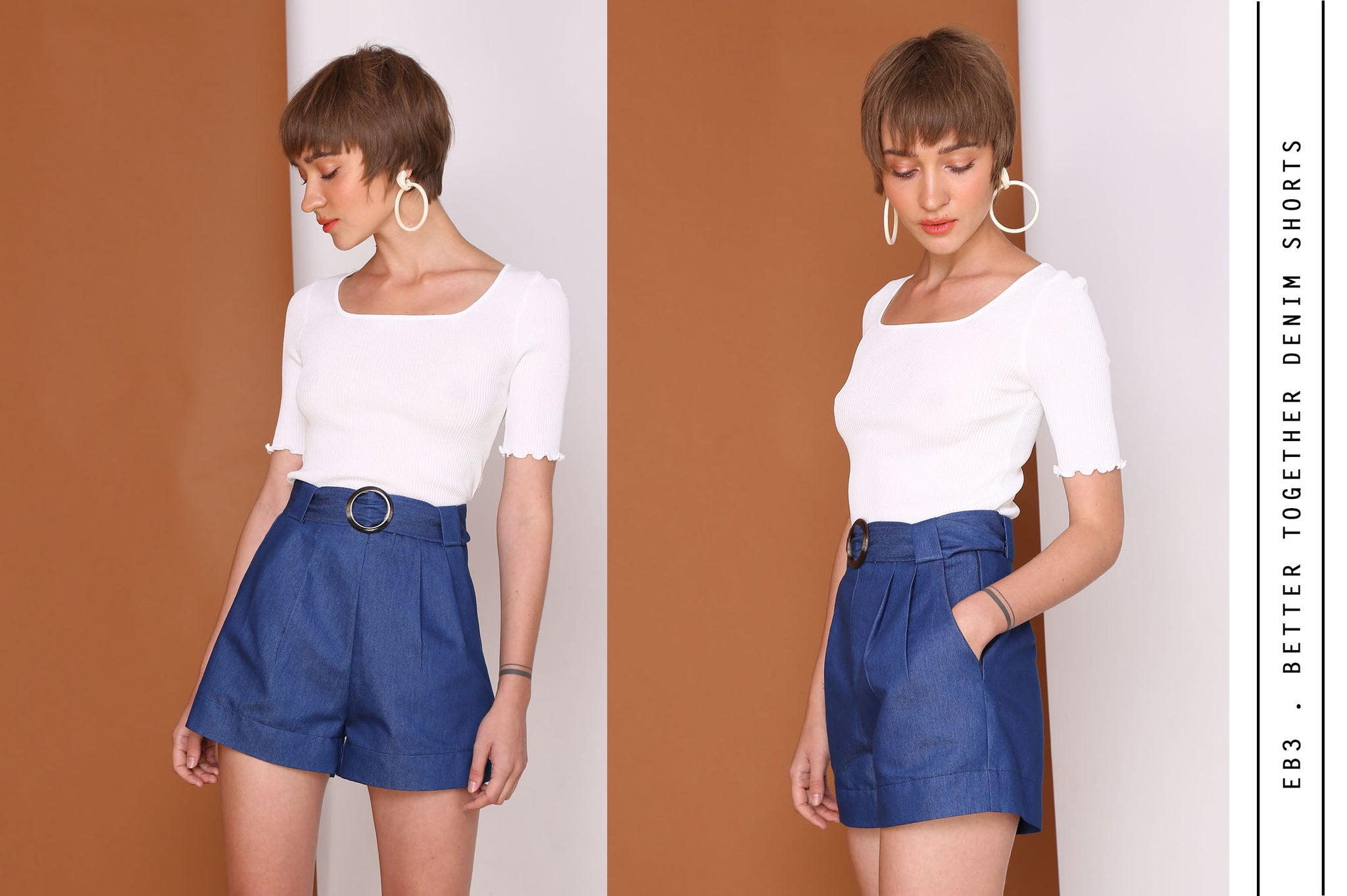 BETTER TOGETHER High Waisted Denim Shorts