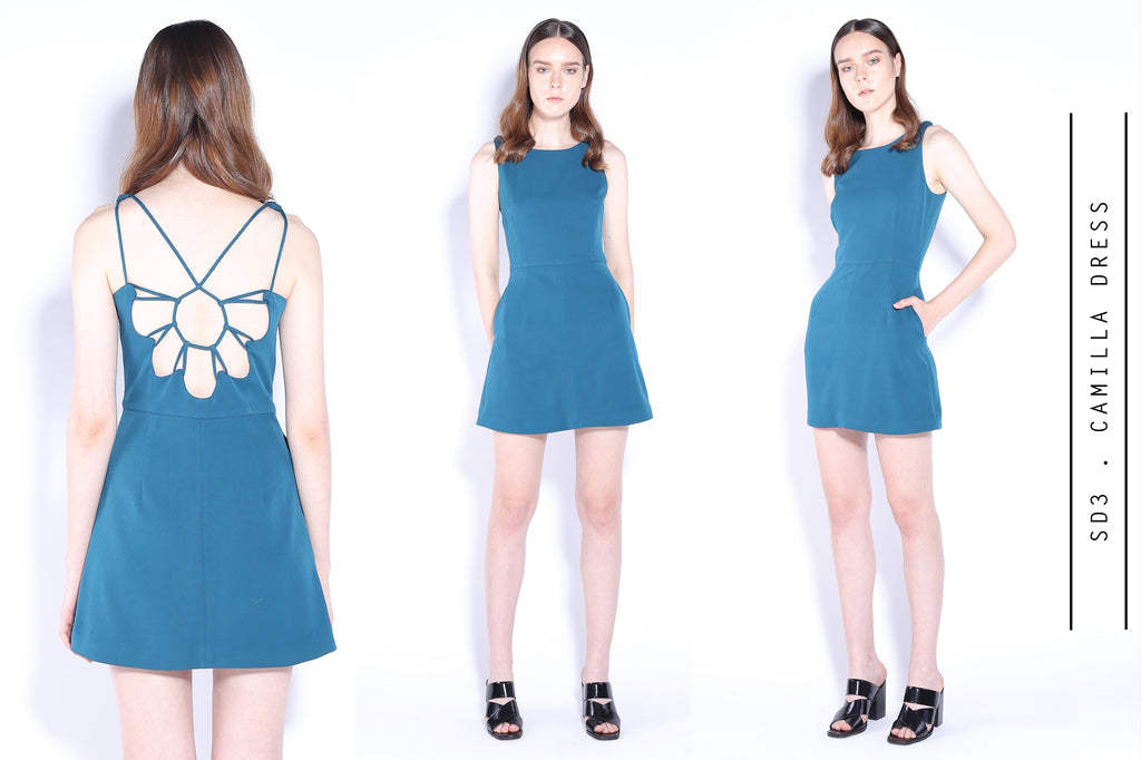 Camilla cut out back dress