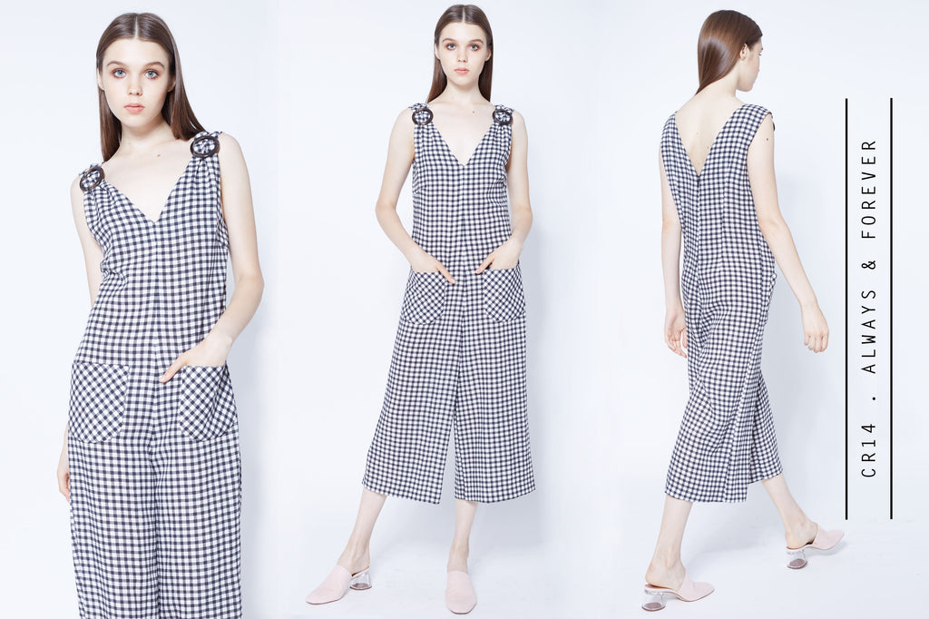Gingham jumpsuits