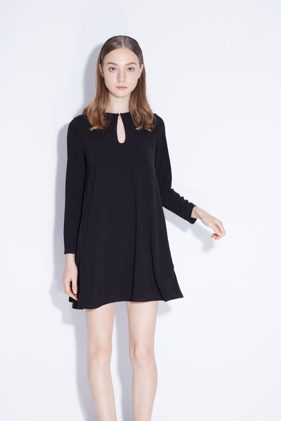 OVER THE MOON | Little Black Swing Dress
