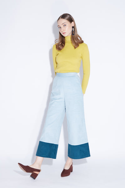 LOVE ME LOVE ME NOT | Colour Block 2 Tone Corduroy Culottes