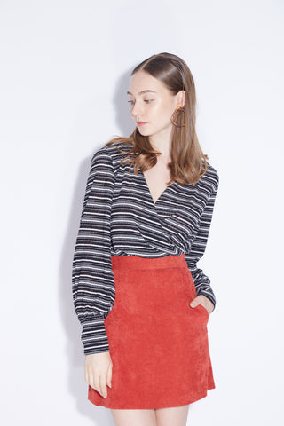 I'm full of surprises retro stripes knit top