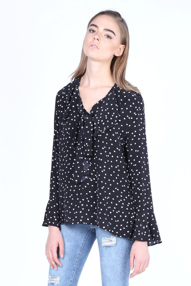 Merry Go Round | Spotty Frilly Blouse