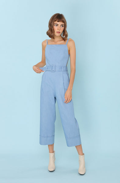 PROVE THEM WRONG | Backless Pinafore Jumpsuits In Blue Denim