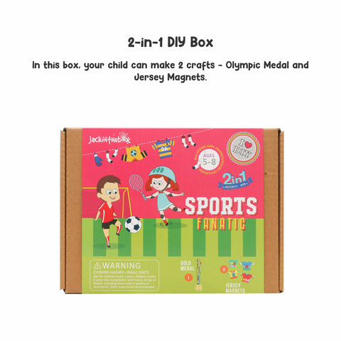 Sports Fanatic 2-in-1 DIY Craft Box