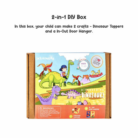 Discovering Dinosaurs 2-in-1 DIY Craft Box